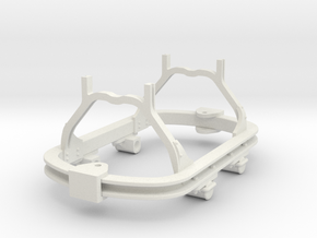 1:35 or Gn15 small skip chassis roller axlebox in White Strong & Flexible