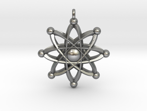 UNIVERSAL ATOM Designer Jewelry Pendant in Natural Silver