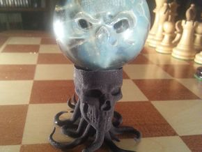 Tentacle Skull Marble Holder in Black Natural Versatile Plastic