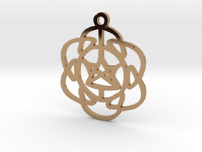 Vibrations Pendant in Polished Brass