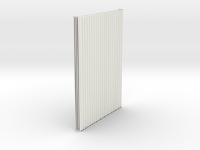 1:6  Corrugated panel x4 in White Natural Versatile Plastic