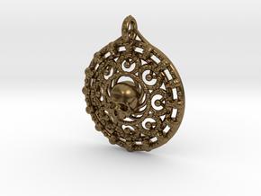 Skull Mandala in Natural Bronze