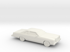 1/87 1975 Ford Ltd Coupe in White Natural Versatile Plastic