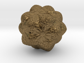 Christmas Tree Snowflake Ornament Smaller in Natural Bronze