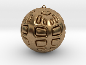 Christmas Tree Ornament #2 Smaller in Natural Brass