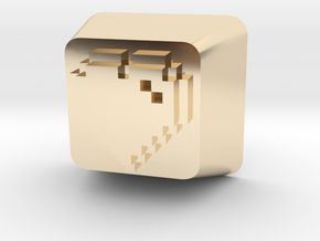 8 Bit Heart Cherry MX Keycap in 14K Yellow Gold
