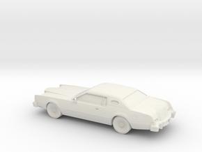 1/87 1974 Lincoln Mark IV in White Natural Versatile Plastic