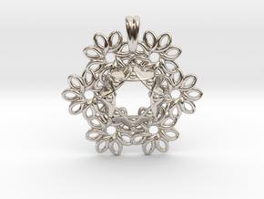 OCEAN FORMS Designer Jewelry Pendant in Platinum