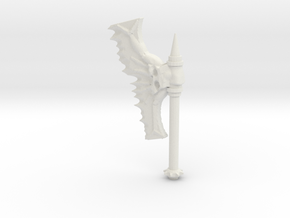 Daemonic Axe 02 Large in White Natural Versatile Plastic: Large