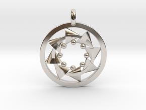 CIRCULAR Motion Designer Jewelry Pendant in Platinum