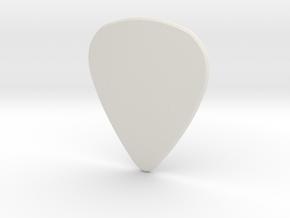 Guitar pick HARD in White Natural Versatile Plastic