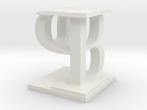 Two way letter / initial B&P in White Natural Versatile Plastic