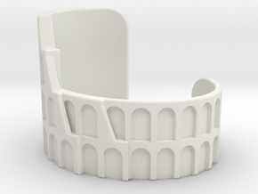 Colosseum Bracelet Size Small in White Natural Versatile Plastic