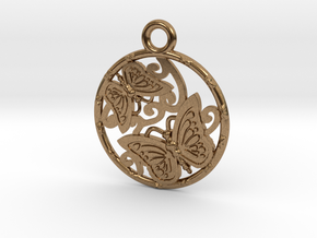 Duo butterfly in Natural Brass