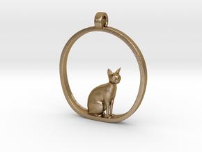 Cat v1 in Polished Gold Steel