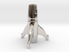 Space Rocket Cigarette Stubber  in Platinum