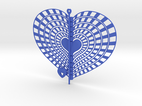 Heart Swap Spinner Rising Sun - 15cm in Blue Strong & Flexible Polished