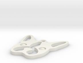 Boston Terrier Pendant in White Natural Versatile Plastic