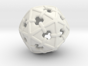 Wrapped Icosahedron in White Natural Versatile Plastic