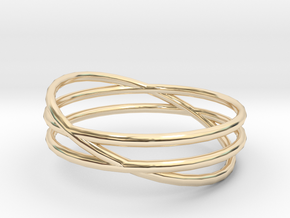 "Ring ""Three's a crowd"" / size 7.5 in 14K Yellow Gold"