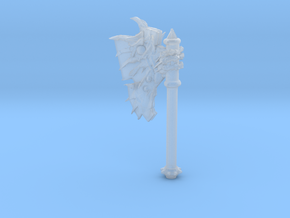 Daemonic Axe 01 Large in Smooth Fine Detail Plastic: Large