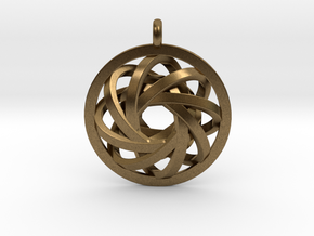 ATOM CORE Designer Jewelry Pendant in Natural Bronze