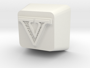 V Cherry MX Keycap in White Natural Versatile Plastic