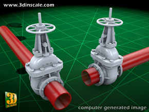 Pipeline accessory system Valve2 in Smooth Fine Detail Plastic