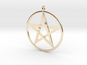 Pentacle Pendant - braided in 14K Yellow Gold