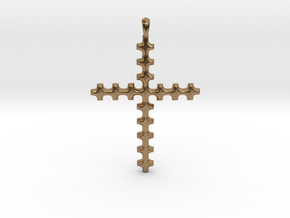 CROSS Cubism Jewelry Pendant in Silver | Gold in Natural Brass