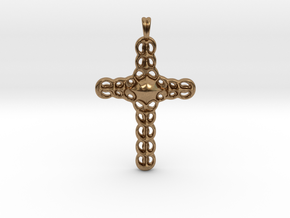 Design CROSS Jewelry Pendant in Silver | Gold  in Natural Brass