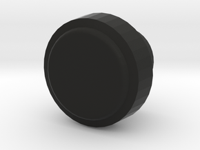 Toyota Radio Knob (inner) - Low Polygon in Black Natural Versatile Plastic