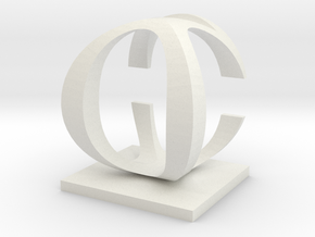 Two way letter / initial C&O in White Natural Versatile Plastic