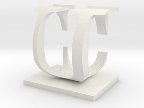 Two way letter / initial C&U in White Strong & Flexible