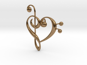 Love Of Music Pendant in Natural Brass