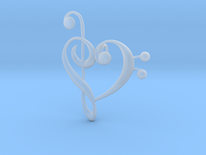 Love Of Music Pendant in Smooth Fine Detail Plastic