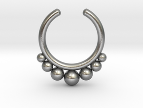 Septum Ring 1.5mm in Natural Silver