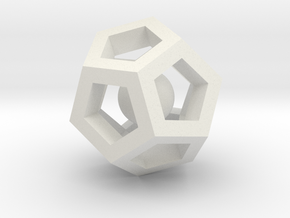 Dodecahedron Mini in White Natural Versatile Plastic