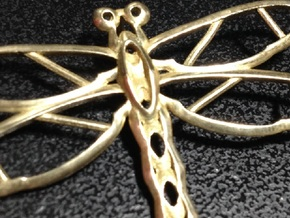 Dragonfly Pendant mk2 in Polished Brass