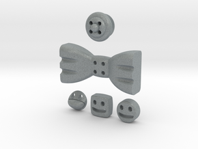 5 Mmoduttons to add to happiness in Polished Metallic Plastic