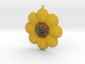 Sun Flower Style Pendant in Full Color Sandstone