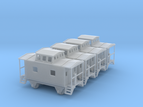 Bobber Caboose - Set of 4 - Zscale in Smooth Fine Detail Plastic
