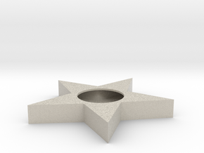 Thealight Candle Star Holder Ø38 Mm - Theelichthou in Sandstone