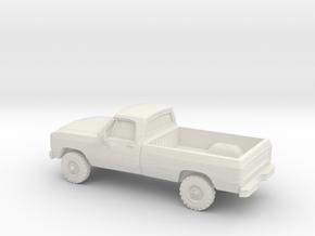 1/87 1991 Dodge Ram Single Cab in White Natural Versatile Plastic