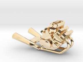 Yamaha Vmax engine miniature in 14K Yellow Gold