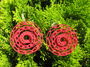 Snail 1 Earrings in Red Processed Versatile Plastic