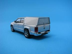 HO/1:87 Pickup cap + box set VW Amarok in Smooth Fine Detail Plastic
