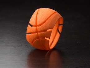 Basketball Ring 19 mm in Orange Processed Versatile Plastic