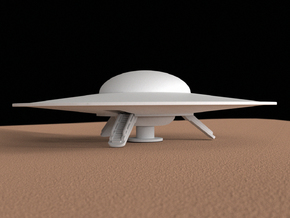 Flying saucer, 100 mm in White Strong & Flexible