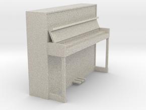 Miniature 1:24 Upright Piano in Natural Sandstone